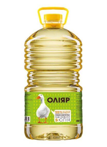 Олія соняшникова рафінована ТМ Оліяр 5л