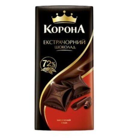 Шоколад екстрачорний ТМ КОРОНА, 85 г