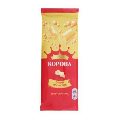Шоколад білий пористий ТМ КОРОНА, 80 г