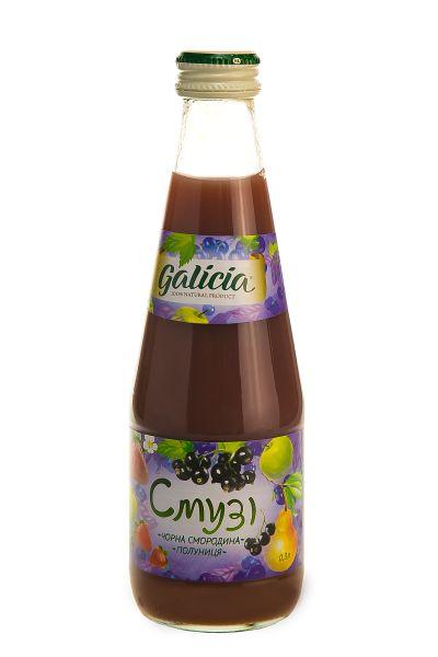 Смузі Галіція яблуко-груша-чорна смородина-полуниця скло 0,3 л