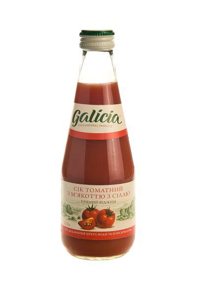 Сік Галіція томатний скло 0,3 л