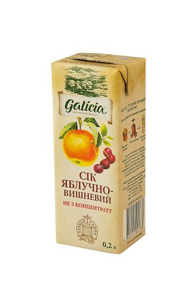 Сік Галіція яблучно-вишневий т/п 0,2 л