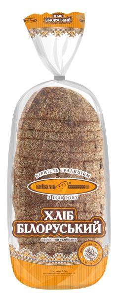 Хліб Білоруський подовий нарізний КИЇВХЛІБ 0,350 кг