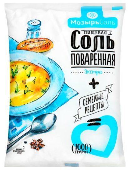 Сіль екстра Полісся Мозирсіль сімейні рецепти 1 кг, пак