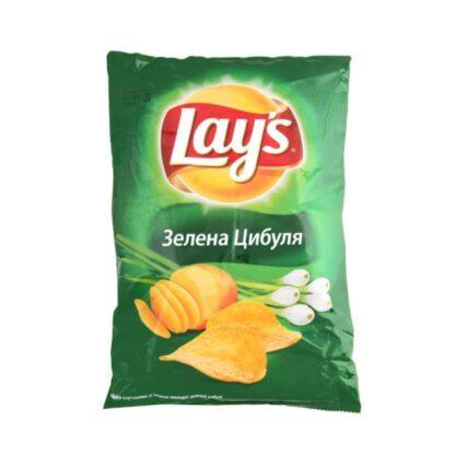 Чипси Lay's зі смаком зеленої цибулі 0.133 кг, пак