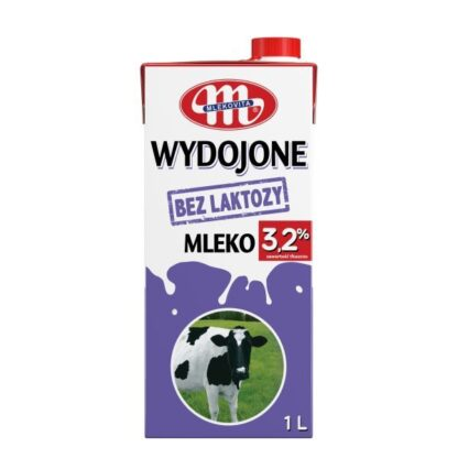 Молоко MLEKOVITA безлактозне ультрапастеризоване 3,2% 1.000 л., пак