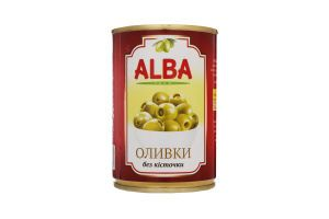 Оливки ALBA FOOD б/к ж/б 0.280/0.090 кг, пак