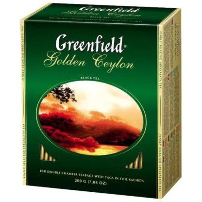 Чай Greenfield чорний Golden Ceylon 100шт*2г 0.200 кг, пак