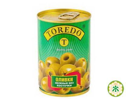 Оливки TOREDO зелені б/к 0.280/0.080 кг, пак