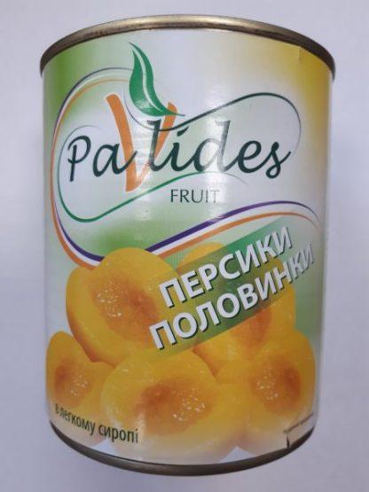Персики PAVLIDES половинками 0.820/0.480 кг, пак