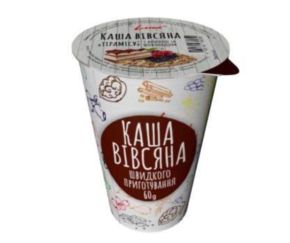 Каша Ілна вівсяна ТІРАМІСУ з вишнею та шоколадом стакан 0.060 кг, пак