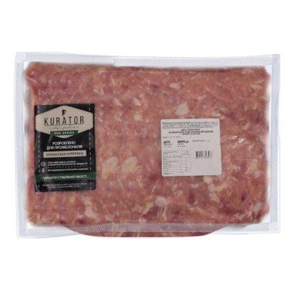 Курячий фарш KURATOR Професійний (філе 30% та м'ясо ніжки 70%) в/у ~2,5 кг, кг