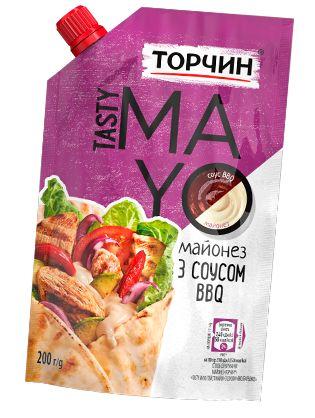 Майонез ТОРЧИН з соусом BBQ Tasty Mayo 0.200 кг, пак