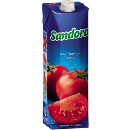 Сік Sandora томатний з сіллю 0.950 л., пак